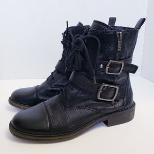 Lucky Brand Shoes - Lucky Brand Nolan Leather Moto Boots 9.5
